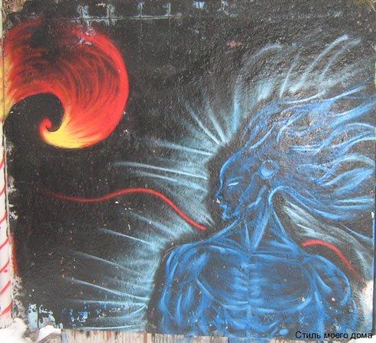 граффити - посинел на морозе наверное