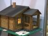 модель деревянного дачного дома
