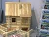 модель деревянного дома бани