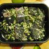 Рыба запеченная в духовке с луком и зеленью