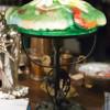Антикварная лампа — уют старинного зеленого абажура
