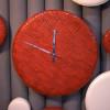 Кожаные часы интерьерные