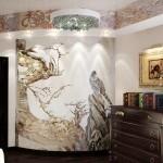 Роспись на стене в гостевой комнате