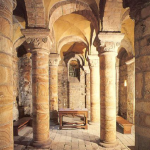 interior of the Norman Chapel at Durham Castle