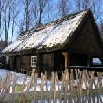 старый дом из бревен