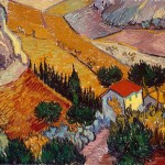 Landscape with House and Ploughman - Винсент Ван Гог