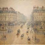 Оперный проезд в Париже. Эффект снега. Утро.- Камиль Писсаро