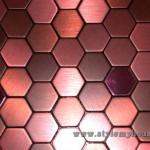 разные расцветки металлической мозаики