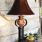 лампа в деревенском стиле