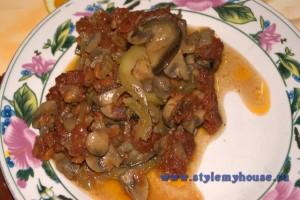 рататуй по-русски с грибами