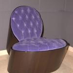 совремнное сиреневое кресло