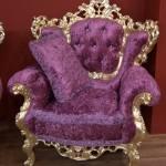 сиреневое кресло - неорококо