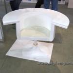 дизайнерское белое кресло