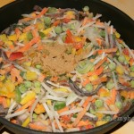 замороженные овощи и специи
