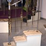 лестничные ограждения из металла с стеклянными шарами