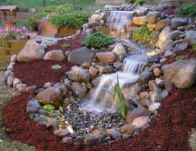 пример водопада с каскадами