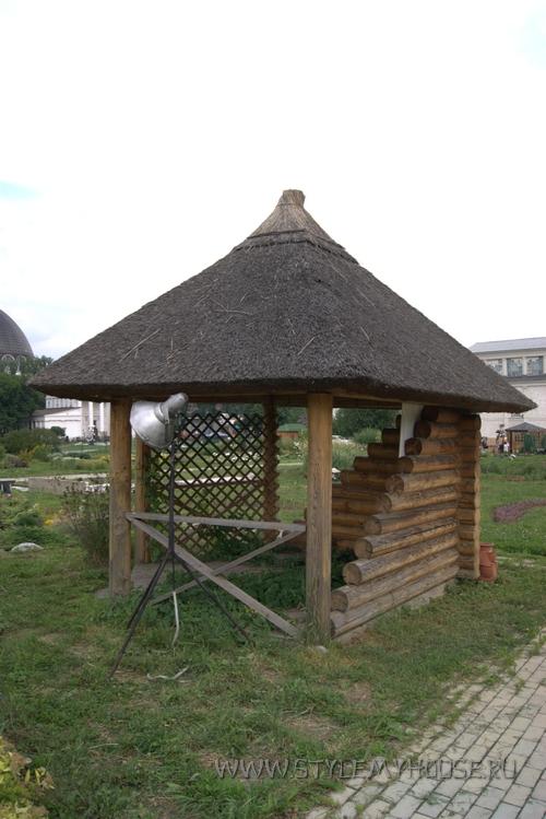 деревянная беседка в русском стиле
