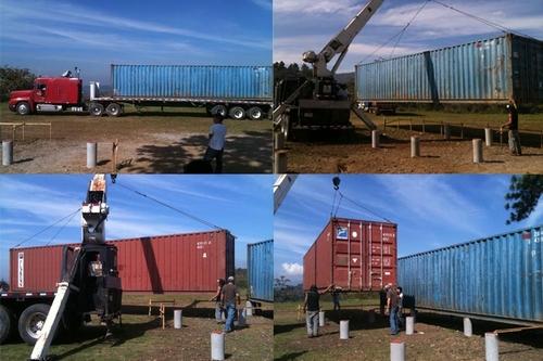 монтаж модульного дома из контейнеров