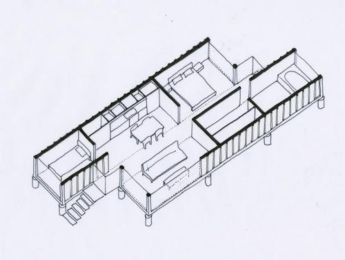 схема модульного дома
