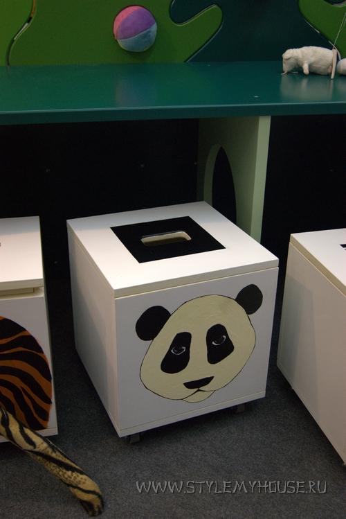 декор мебели - медведь панда