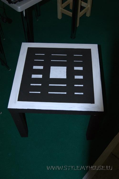 декор мебели по трафарету