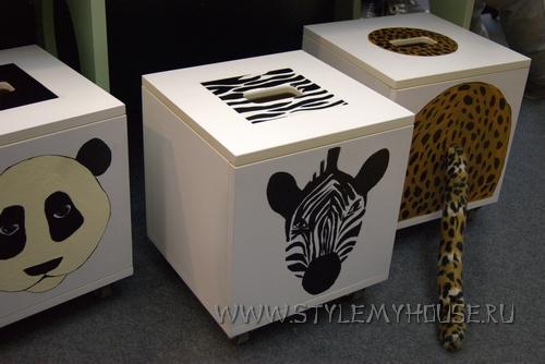 декор мебели - зебра