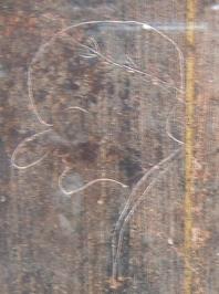 Рисунок на стене в Помпеях