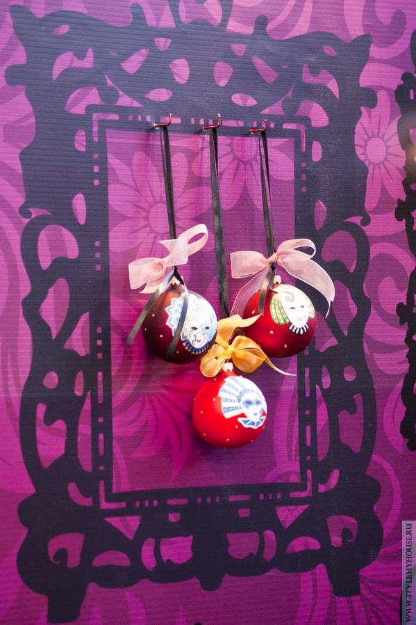 шары на Новый Год в ретро стиле