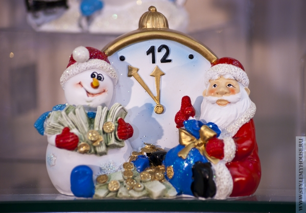 новогодняя игрушка Дед Мороз и снеговик