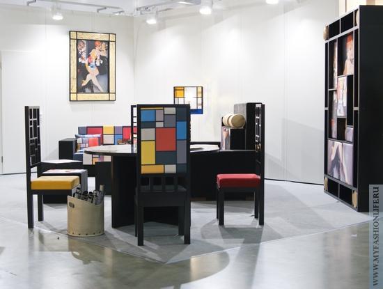арт объект гостиная в стиле абстракционизм Посвящение Мондриану