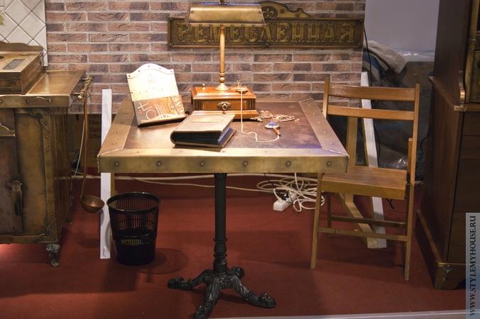 кухонный стол в стиле стимпанк