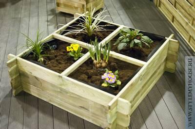 Деревянные контейнеры для растений - цветов и овощей