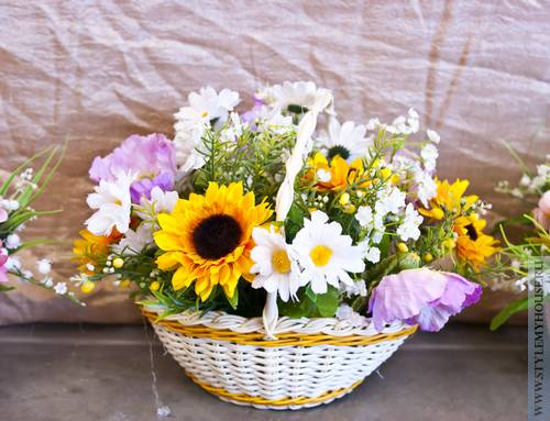 Красивые букеты и композиции из живых цветов (Фото) 46