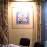 декоративная штукатурка и рисунок на стене