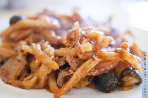 Домашняя лапша со свининой – рецепт пасты с грудинкой из Катании