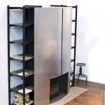 шкаф с камином встроенным