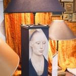 лампа с принтом