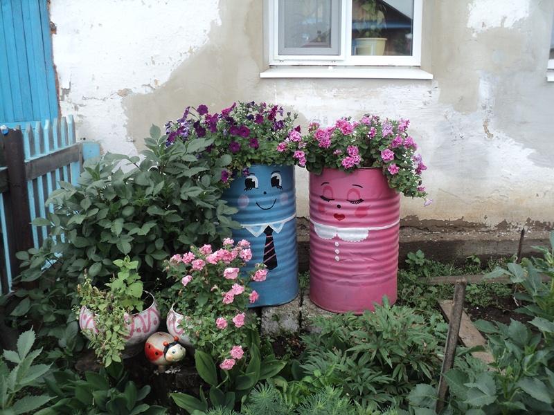 Веселые бочки в вашем саду — как украсить бочку