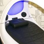 кровать в стиле хай тек с акустической системой