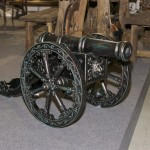 кованная пушка для салового участка