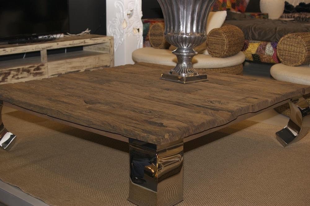 журнальный столик из старого дерева