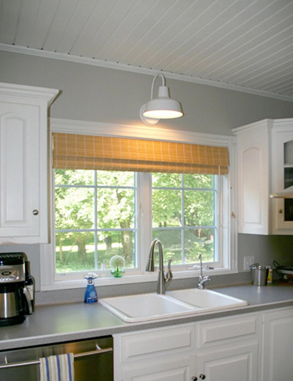 освещение на кухне у окна