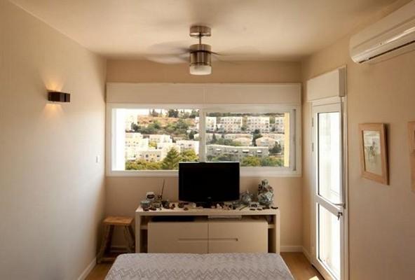 люстра-вентилятор в  спальне