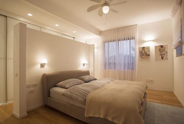 освещенеи спальни в теплом климате с вентилятором