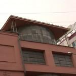 стекляный цилиндр - основной элемент здания