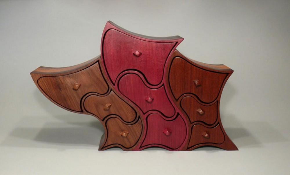 шкатулка из дерева криволинейная