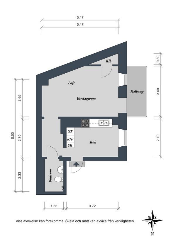 планировка квартиры в 41 кв. м.