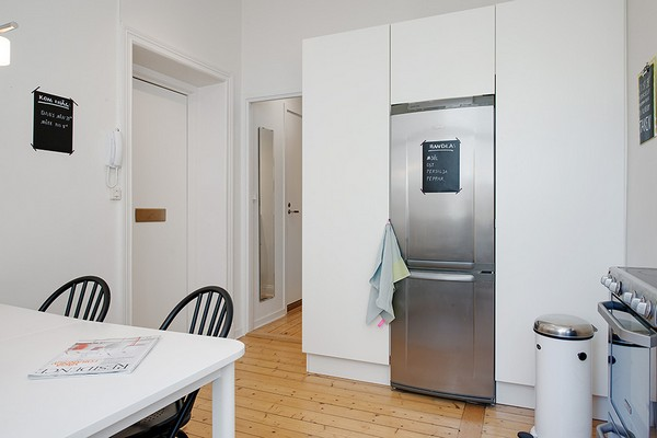холодильник и встроенный шкаф
